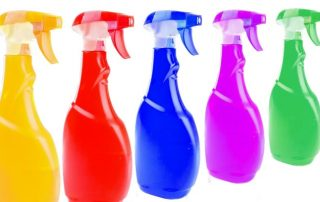 cleaning solutions can contain harsh chemicals